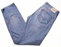 LEVI'S Mens 504 Jeans W34 L34 Blue Cotton Straight  JP13