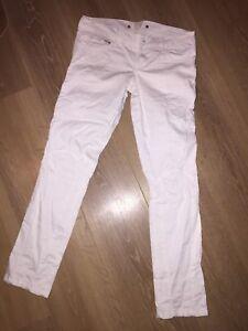 Diesel Weiss 7/8 3/4 Jeans Hose Sommer Lamm Leder 27 Sexy