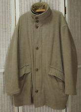"""HUGO BOSS Men's """"Punga"""" Coat EU58 60"""" Chest Grey Wool Blend Winter Outerwear"""
