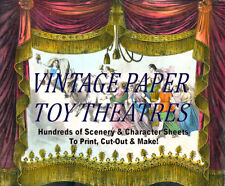 ☆ VINTAGE PAPER TOY THEATER TEMPLATES ☆ 100's Images ☆ PRINT, CUT OUT, MAKE! ☆