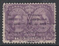 "Canada Scott #62  $2.00 dark purple  ""Diamond Jubilee"""