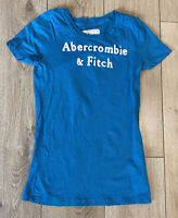 Abercrombie & Fitch Women's T Shirt Blue Short Sleeve Small 100% Cotton