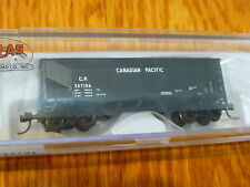 "Atlas N #50001181 Canadian Pacific ""Block Lettering"" 2-Bay Offset Side Hopper"