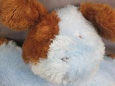 CARTERS BABY BOY BLUE PUPPY DOG BROWN EARS SPOT KNIT EYES  PLUSH STUFFED ANIMAL