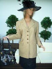 LUXUS LANDHAUS CASHMERE ESCADA Blazer Jacket beige KARO 38/40 Shabbykarriert
