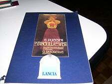LIBRO LA FANCIULLA DEL WEST GIACOMO PUCCINI LANCIA G.RICORDI EDITORE 1991