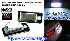 AUDI A3 ï A4 S4 B6 8E RS4 B7 A6 C6 RS6 Q7 LED license number plate light S line