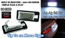 Audi A3 8P A4 S4 B6 8E RS4 B7 A6 C6 RS6 Q7 LED License Number Plate Light S Line