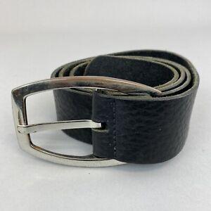 "Vintage Next Black Leather Boho Hippie Jeans Trouser Belt Size 42"" Long Length"