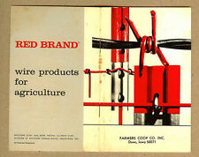 Vintage Farmers Coop Co., DOWS, Iowa IA Red Brand Farm Fence Wire Booklet