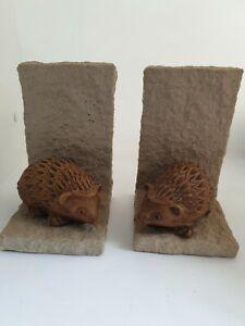 Stunning Very Unusual Ceramic Hedgehog Book Ends