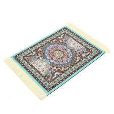 New Trendy Persian Style Mini Woven Rug Mouse Pad Carpet Mousemat With Fringe
