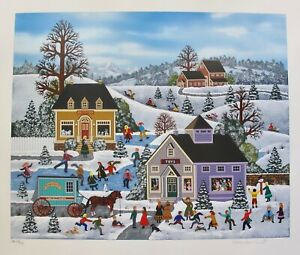 Jane Wooster Scott A KID'S WORLD Hand Signed Limited Edition Serigraph Art