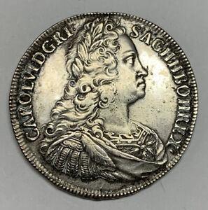 1740 Bohemia Thaler Silver Crown Coin KM 1503.1 D-1086 Prague PVC Charles VI