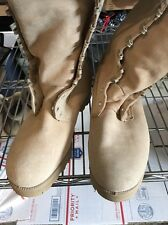 Suede Military Army Combat Boots Men's Size 8 XW & Bootie Inserts MINT no laces