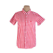 Burberry Shirts White Red Mens Authentic Used C1526