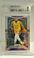 LeBron James 2019-20 Panini Prizm #129 Lakers NBA BGS 9 Mint w/9.5 Subs