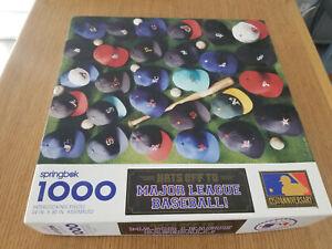 "Springbok 1000 PC Puzzle/""Hats Off To Major League Baseball"""