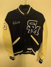 High School Letterman Varsity Jacket Size mens  Medium Blue