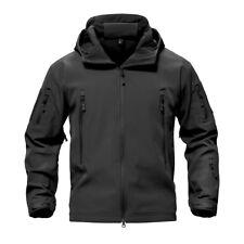 Mens Waterproof Jackets Military Hunting Army Jacket Outdoor Zip UP Hooded Coats
