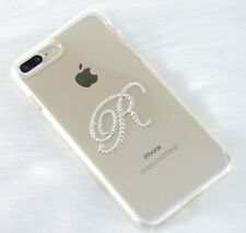 """Crystal Iced """"Initial Only"""" with Crystals from Swarovski Case Genuine (#131)"""