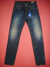 G-Star Raw 3301 basso Affusolato FIT W29 L34 da uomo Blight Jeans Blu Denim N108