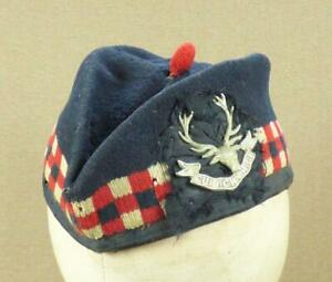 """Victorian, SEAFORTH HIGHLANDERS GLENGARRY CAP with BADGES - """"SEA 3802"""" (1892 ?)"""