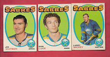 1971-72 OPC SABRES MICKEY + WATSON + LUCE ROOKIE CARD