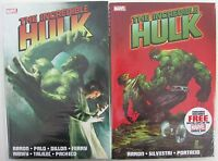*SIGNED by Jason Aaron & Whilce Portacio INCREDIBLE HULK HC v1 & 2 (Cover $70)