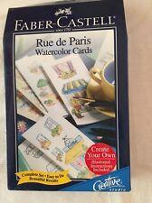 Faber-Castell Water Color Notecard Set - Rue de Paris