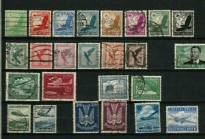 LOT  GERMANY SMALL COLLECTION AIRMAIL 1922 - 1935: 25 X USED : START $ 1.00