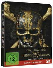 Steelbook Pirates of the Caribbean -salazars Revenge 3D & 2D Blu-Ray New