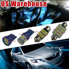 10-pc Aqua Ice Blue LED Light Interior Package Bulb Kit for Toyota Camry 07-2011