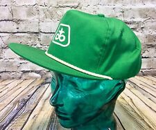 Vintage Pioneer Seed Green White Rope Farmers Ball Cap Hat Cap Made In USA