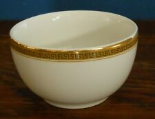 A sugar bowl in Churchill Super Vitrified Hotel ware Gold Greek Key Gilt rim