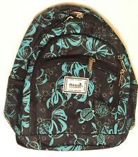 Hawaii Spirit Backpack Purse Travel Hiking Shopping Black/Teal School Bag 3H7045