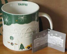 Starbucks Christmas Relief Mug Taipei grün, 16 oz neu mit SKU, Rarität, HTF