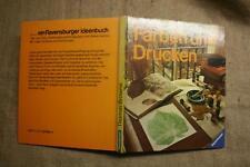 Fachbuch Stoffdrucken, Techniken, Stempeldruck, batiken, Linolschnitt, Siebdruck