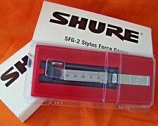 SHURE SFG-2 NEW PRECISION STYLUS FORCE GAUGE/SCALE for TRACKING PRESSURE/WEIGHT