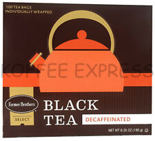 Farmer Brothers Hot Tea - Black Tea (Decaf) - 100 bags  INDIVIDUALLY WRAPPED