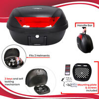 New Motorbike Motorcycle XL 52L Universal Fitting Luggage Top Box Fits 2 Helmets