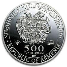 ARMENIE 500 Dram Argent 1 Once Arche de Noé 2013