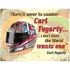 Carl Fogarty Helmet / Quote large metal sign   (og 4030)