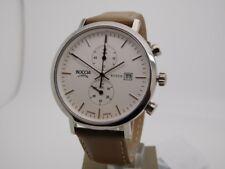 Boccia Titanium Titan Herrenuhr Uhr Datum Saphirglas Leder Braun 3752-01