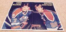 Wayne Gretzky Jari Kurri Edmonton OIlers Finland Poster 21.25 by 15.75 inch 1983
