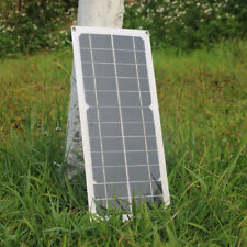 Hovall 10 Watt Portable Solar Panel with USB 5V and DC 12V Outputs for Car, Cell