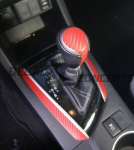 2014-2016 Corolla RED Carbon Fiber Shift Knob Accent Decal kit Toyota gear