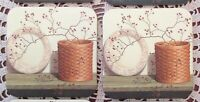 2 Longaberger Basket With Plate Pip Berries Coasters Country Primitive Brand New