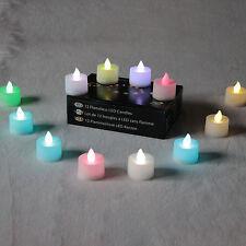 12 Colour changement Noël Pile Bougies à Thé par PK Green