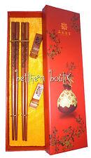 Asie : Coffret Duo 2 Paires de Baguettes Chinoises en BOIS - Modèle Dragon